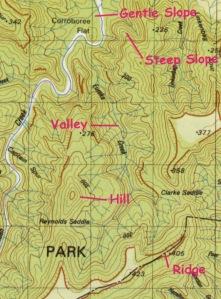แผนที่แสดงเส้นความสูงจากระดับน้ำทะเล (ภาพจาก Intergovernmental Committee on Surveying and Mapping)