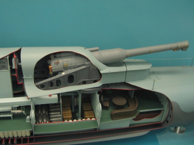 HMS_M1_submarine_model_turret